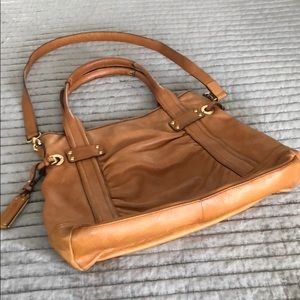 B Makowski Leather Handbag
